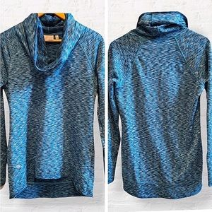 ATHLETA Space Dye Tranquility Cowl Neck Pullover